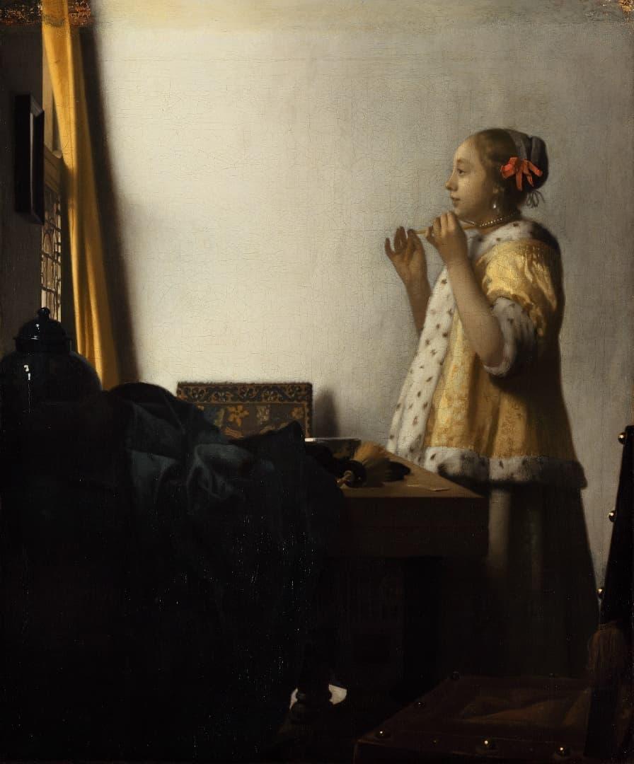 ヨハネス・フェルメール 真珠の首飾りの女 1662,65頃 ベルリン国立美術館蔵© Staatliche Museen zu Berlin,  Gemäldegalerie / Christoph Schmidt